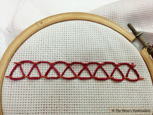Stepped Running Stitch